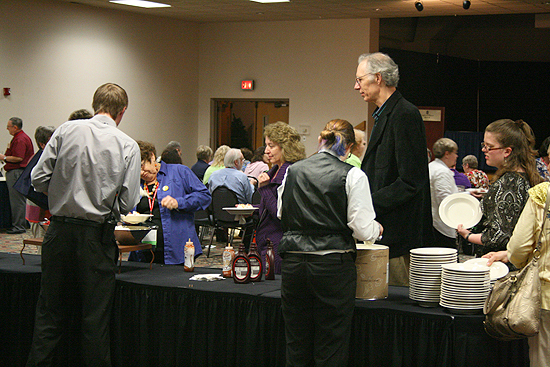 The ice cream bar at the Kansas Library Association's convention. 2011.