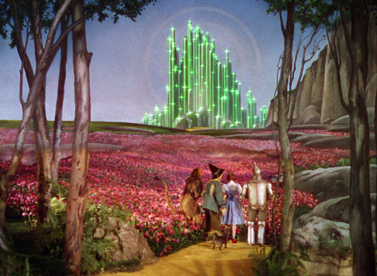"""Look! Emerald City is closer and prettier than ever!"""