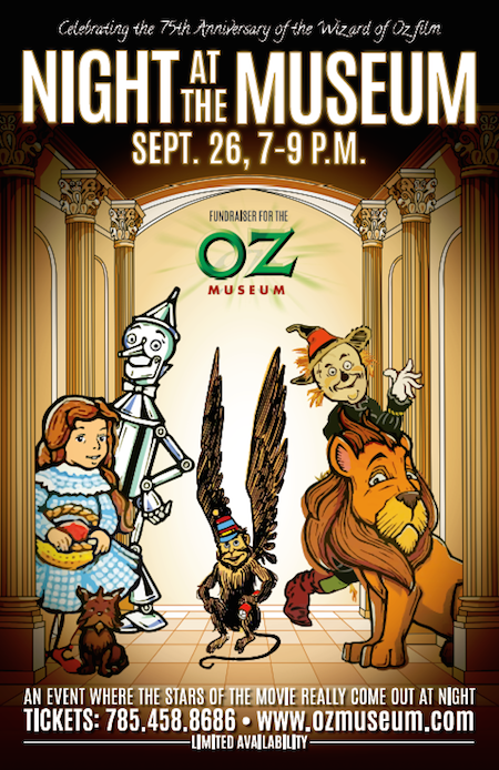 Poster for OZtoberFest's Night at the Museum in Wamego, Kansas. 2014.
