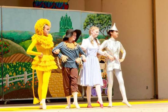 "Photo of the Kansas Ballet Academy performing ""The Wizard of Oz."" The Colombian Theatre, Wamego, Kansas."