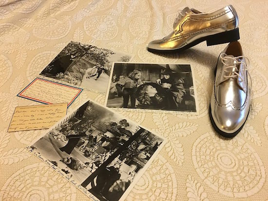 Paul Miles Schneider packs his new silver shoes, along with several pieces of correspondence from his second-grade pen pal, the Wicked Witch of the West herself, Margaret Hamilton. Oz-Stravaganza! 2016.