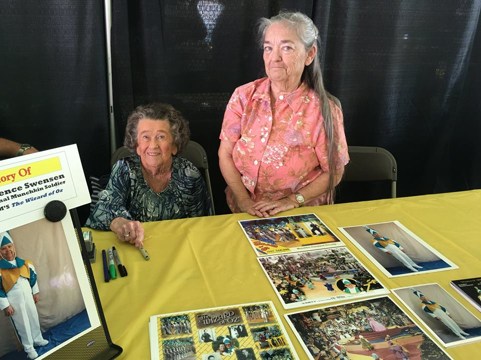 MGM Munchkin-by-marriage Myrna Swensen and her delightful daughter Nancy, honoring Clarence Swensen at Oz-Stravaganza! 2016.